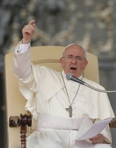 Pope delivers talk during general audience in St. Peter's Square at Vatican