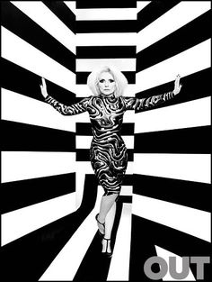 Out magazine's shoot of Debbie Harry - Blondie dress by Vin and Omi #blondie #Debbie Harry #vinandomi