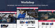 cool Workshop- Automotive Restore, Automotive Wash & Automotive Servicing HTML5 Template (Enterprise)
