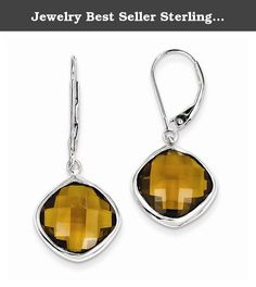 Jewelry Best Seller Sterling Silver Whiskey Quartz Earrings. Sterling Silver Whiskey Quartz Earrings Polished - Open back - Leverback - Sterling silver - Dangle - Whiskey Quartz - Checkerboard-cut Size: 0 Length: 32 Weight: 1.01 Jewelry item comes with a FREE gift box. Re-sized or altered items are not subject for a return. Sterling Silver Whiskey Quartz Earrings Product Type:Jewelry Jewelry Type:Earrings Earring Type:Drop & Dangle Material: Primary:Sterling Silver Material: Primary -...