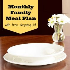 FREE Monthly Family Meal Planning with weekly printable grocery list Meal Planning Board, Monthly Meal Planning, Family Meal Planner, Family Meals, Crockpot Recipes, Cooking Recipes, Healthy Recipes, Cooking Ideas, Healthy Food