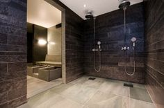 Architecture: A hotel in the sign of slate Slate Stone, Scandinavian Interior, Natural Stones, Bathtub, Shower, Architecture, House, Design, Bathrooms