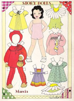 Paper Doll Pattern to make halloween costumes