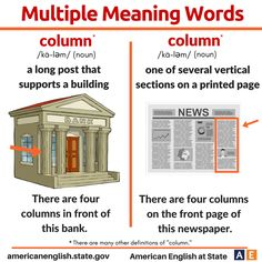 Multiple Meaning Words: Column