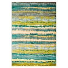 Anchor your living room seating group or define space in the den with this artfully loomed rug, showcasing abstract striping for eye-catching appeal.