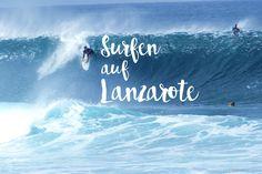 Surfer, Strand, Waves, Neon Signs, Outdoor, Canary Islands, Lanzarote, Cacti