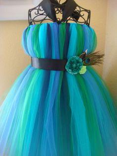 Peacock tutu dress multi colors Please do not order by raelei, $35.00