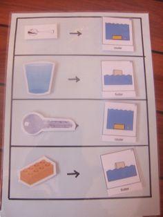 flotte ou coule : première expérience...scientifique !