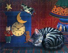 durmiendo, ilustración de Monica Van Derweer