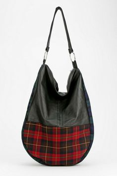 Rag Union X Urban Renewal Hobo Tartan Bag #urbanoutfitters