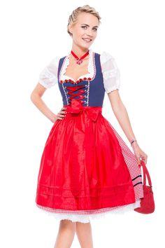 Genau richtig fürs Oktoberfest. Dirndl in rot weiß blau von Krüger Madl.