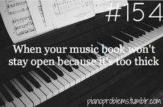 Piano Problem or when the books not spiral bound. My teacher told me to use a pinch skirt holder.