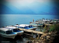 Lake Atitl& in Guatemala - via Beers & Beans >> Let's Go Boating!missed this lake when i was in Guatemala! Great Places, Places To See, Beautiful Places, Tikal, A Far Off Place, Atitlan Guatemala, Australia Tourism, Lake Atitlan, Somewhere In Time