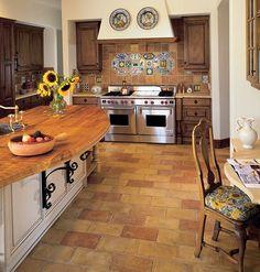 all about: terracotta kitchen floor tiles | spotlight, in kitchen