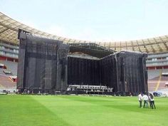 Stage for WWA is being built!!!
