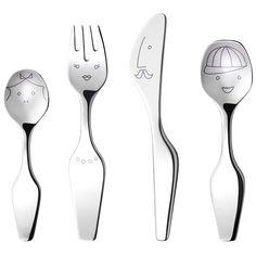 ALFREDO The Twist Family, 4 pcs. cutlery set