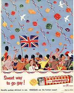 Spangles Magazine Advert 1953 Coronation.  Image Courtesy of The Advertising Archives: http://www.advertisingarchives.co.uk
