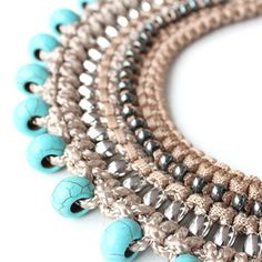 Beautiful 'Barbara' tribal collar necklace from Sollis. The detail!!!