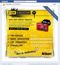 I Am A Rockstar - Facebook Application for Nikon Belgium