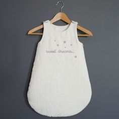 Gigoteuse en lin avec l'inscription sweet dreams – turbulette taille 0-6 mois