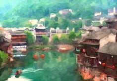 I uploaded new artwork to fineartamerica.com! - 'Old Chinese Traditional Town' - http://fineartamerica.com/featured/old-chinese-traditional-town-lanjee-chee.html via @fineartamerica