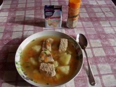 Supa de cartofi cu carne de porc Romanian Food, I Love Food, Cheeseburger Chowder, Easy Meals, Cooking, Ethnic Recipes, Kitchen, Pork, Cucina