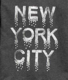 Sweatshirt with Motif | Dark gray/New York | Kids | H&M US