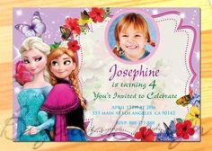 Frozen Invitation Frozen Birthday Party Disney by BogdanDesign Frozen Invitations, Birthday Invitations, Crochet Mitts, Disney Frozen Birthday, Diy And Crafts, Paper Crafts, 5th Birthday, Birthday Ideas, Christmas Crafts