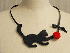 The Felt Kitty Necklace by Five o' Clock's is to Purr For | Catster
