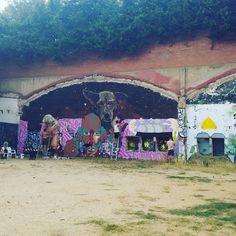 Street art wip Barcelone