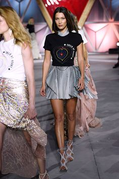Bella Hadid walks in the Fashion For Relief show during the 70th Cannes Film Festival (REX/Shutterstock)
