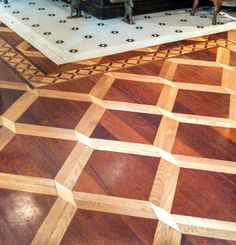 The beautiful wood and tile floor at Luke, one of John Besh's restaurants in New Orleans. March '13.