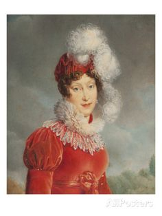 Portrait of Empress Marie Louise (1791-1847) of France .