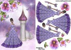 Lavender Princess and her Castle Decoupage