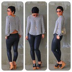 mimi g.: Open Back + Wax Coated Jeans