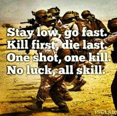 This should be on Call of Duty before each match begins! I'd probably be chanting it with them!