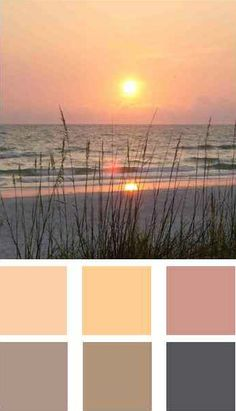 """""""There are enough colors in this coastal scene to design a palette for your entire home. I just highlighted six of the main colors but if you look closely at all the shades and tints here - there are literally dozens of color combinations you can use."""""""