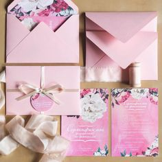 wedding stationery, wedding invitation, pink, watercolor