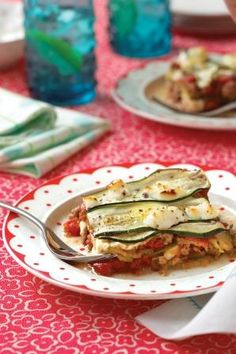 Zucchini Lasagna Recipe  at Epicurious.com
