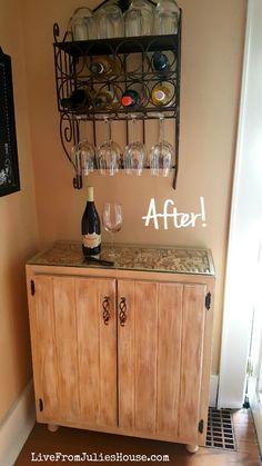 DIY Liquor Cabinet - I created a budget friendly DIY Liquor Cabinet out of a sad & Cheap bookcase into liquor cabinet | Home ideas | Pinterest | Cheap ...