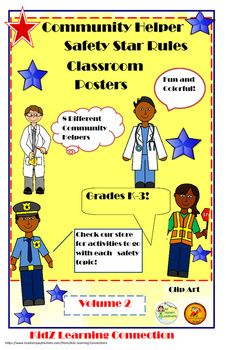 Poster bundle: health and safety rules volume 2 by kidz learning connections Teacher Resources, Teacher Pay Teachers, Teaching Ideas, Health And Physical Education, Safety Rules, Character Education, Career Education, Community Helpers, Classroom Activities