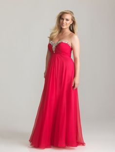 8705541bc44 Watermelon Ruched Chiffon Beaded Sweetheart Plus Size Prom Dress - Unique  Vintage - Cocktail