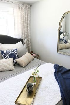 Small Space Bedroom Makeover - The Inspired Room
