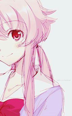 Imagen de mirai nikki, anime, and yuno