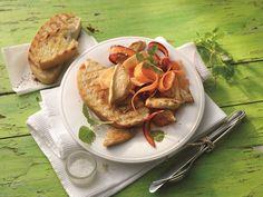 Orientalischer Hähnchensalat mit Karotten #Haehnchen #Gefluegel #Rezept #Rezepte #Genuss #Kochen #Salat #Moehren