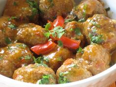 Meatballs in Coconut Curry Sauce