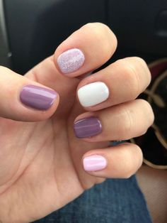 "If you're unfamiliar with nail trends and you hear the words ""coffin nails,"" what comes to mind? It's not nails with coffins drawn on them. It's long nails with a square tip, and the look has. Nails Polish, Toe Nails, Pink Nails, Coffin Nails, Cute Shellac Nails, Summer Shellac Nails, Purple Manicure, Stiletto Nails, White Nails"