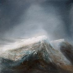 Fjella, dei står der dei står, dei veit kor dei hører til. Abstract Nature, Abstract Art, Landscape Art, Landscape Paintings, Different Kinds Of Art, Alternative Art, Snow Mountain, Paintings I Love, Pictures To Paint