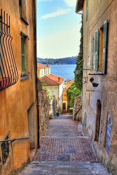 Villefranche Alleyway, Cote d'Azur, France