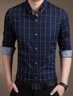Cheap chemise homme, Buy Quality blue shirt men directly from China mens dress shirts Suppliers: 2017 High Quality Mens Dress Shirts Blue Shirt Men Causal Striped Shirt Men Camisa Social Masculina Chemise Homme Style Casual, Men Casual, Casual Shirts For Men, Chemise Fashion, Men's Fashion, Fashion Brand, Autumn Fashion, Fashion Site, Classy Fashion